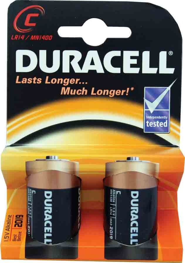 Norwich Wholesale Packet Of Two Duracell R14 Batteries