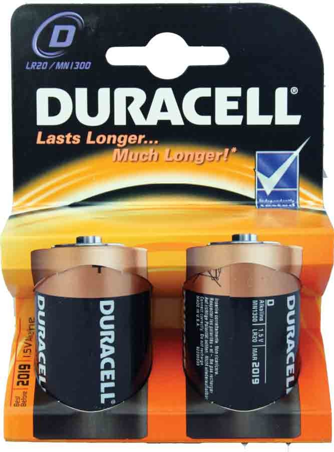 Norwich Wholesale Packet Of Two Duracell R20 Batteries