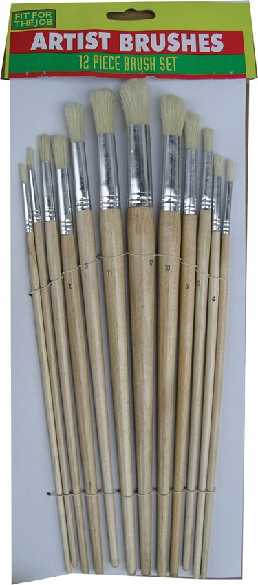 Round artist brush set