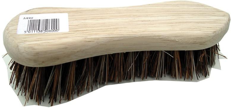 Wood scrub brush