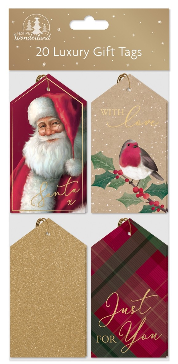 20 luxury gift tags - traditional patterns