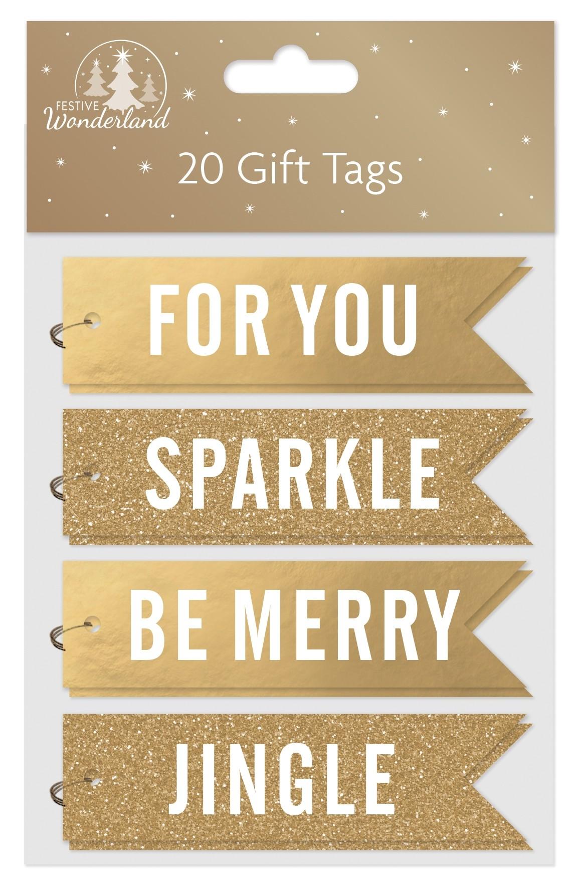 20 Christmas gold gift tags
