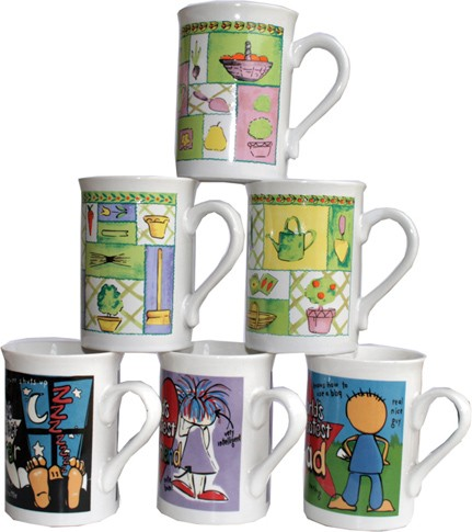 Assorted mugs