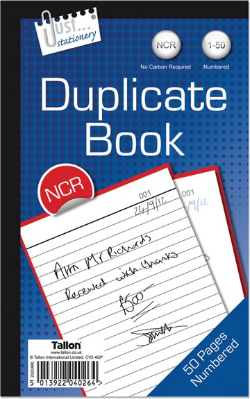 Numbered duplicate book