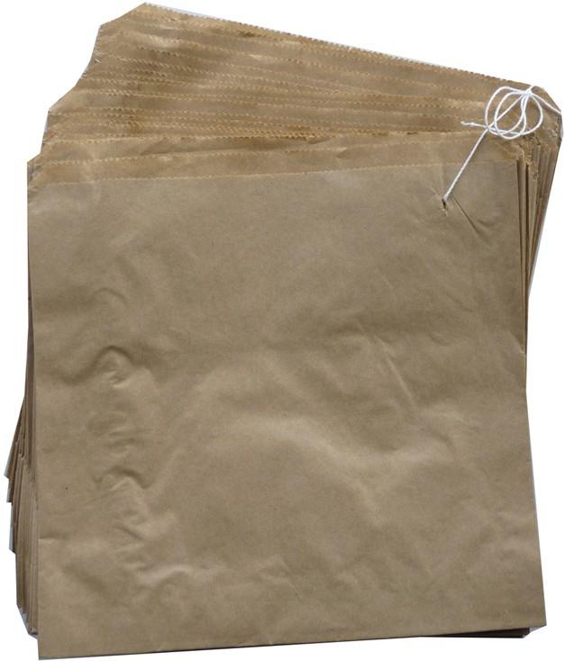 """8""""x8"""" brown paper bags"""