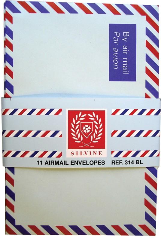 25 Airmail envelopes