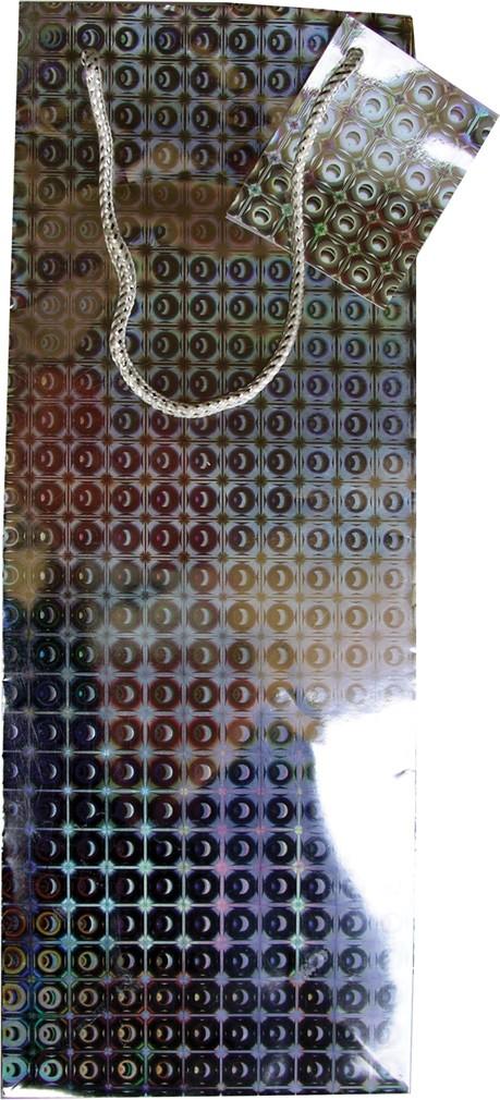 Holographic bottle gift bag