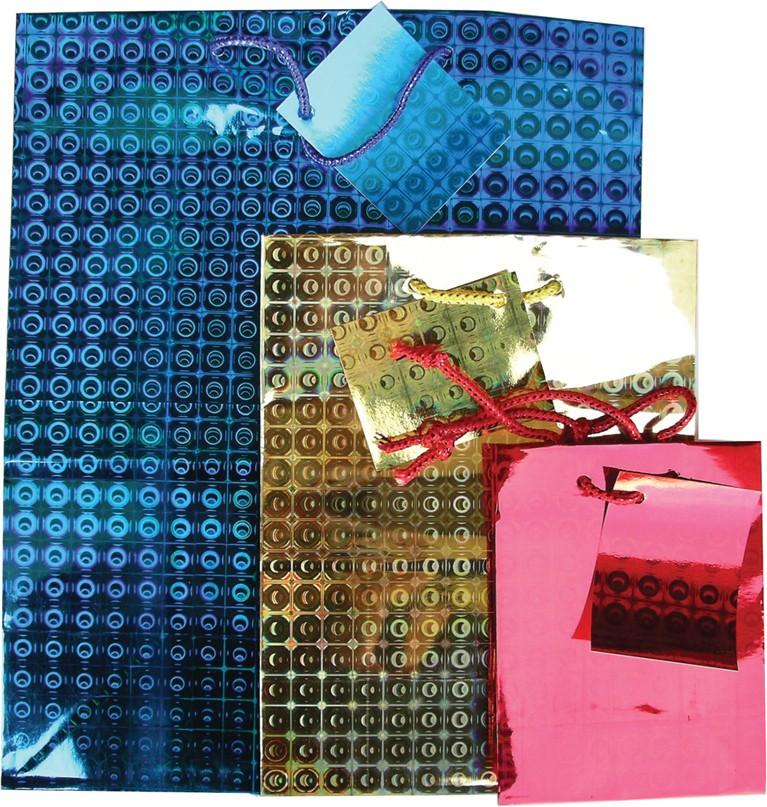 Small holographic gift bag