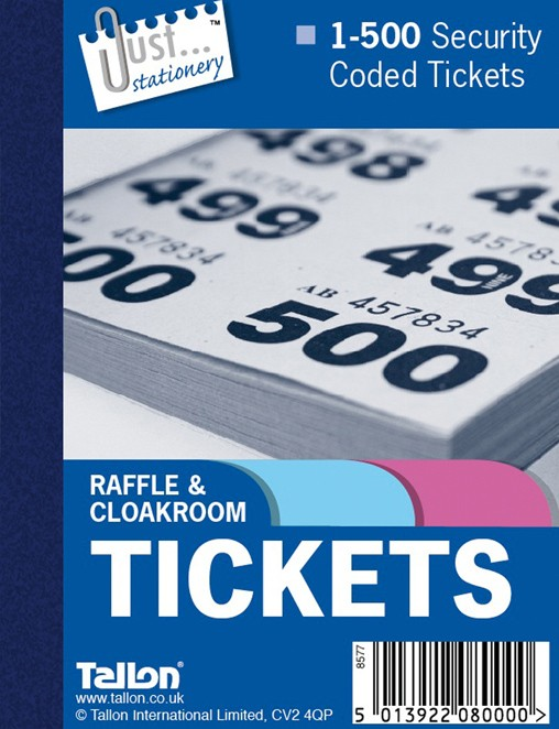 Cloakroom and Raffle tickets 1-499