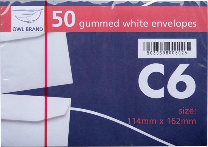 49 C6 white envelopes