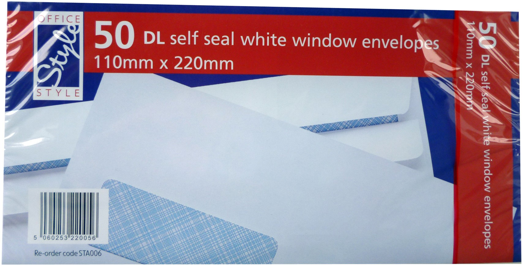 self seal white window envelopes