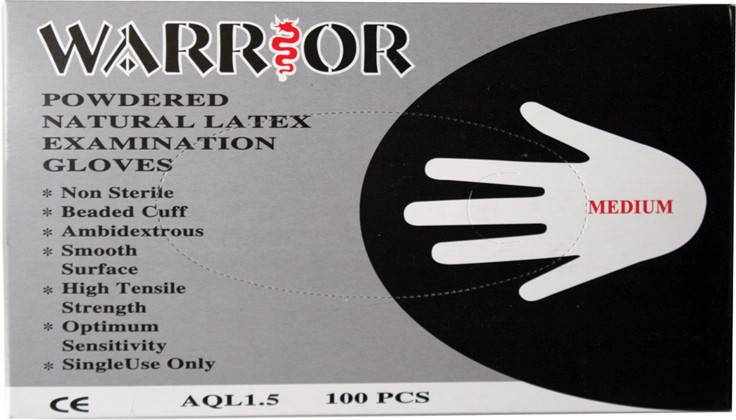 Pack of 100 disposable gloves