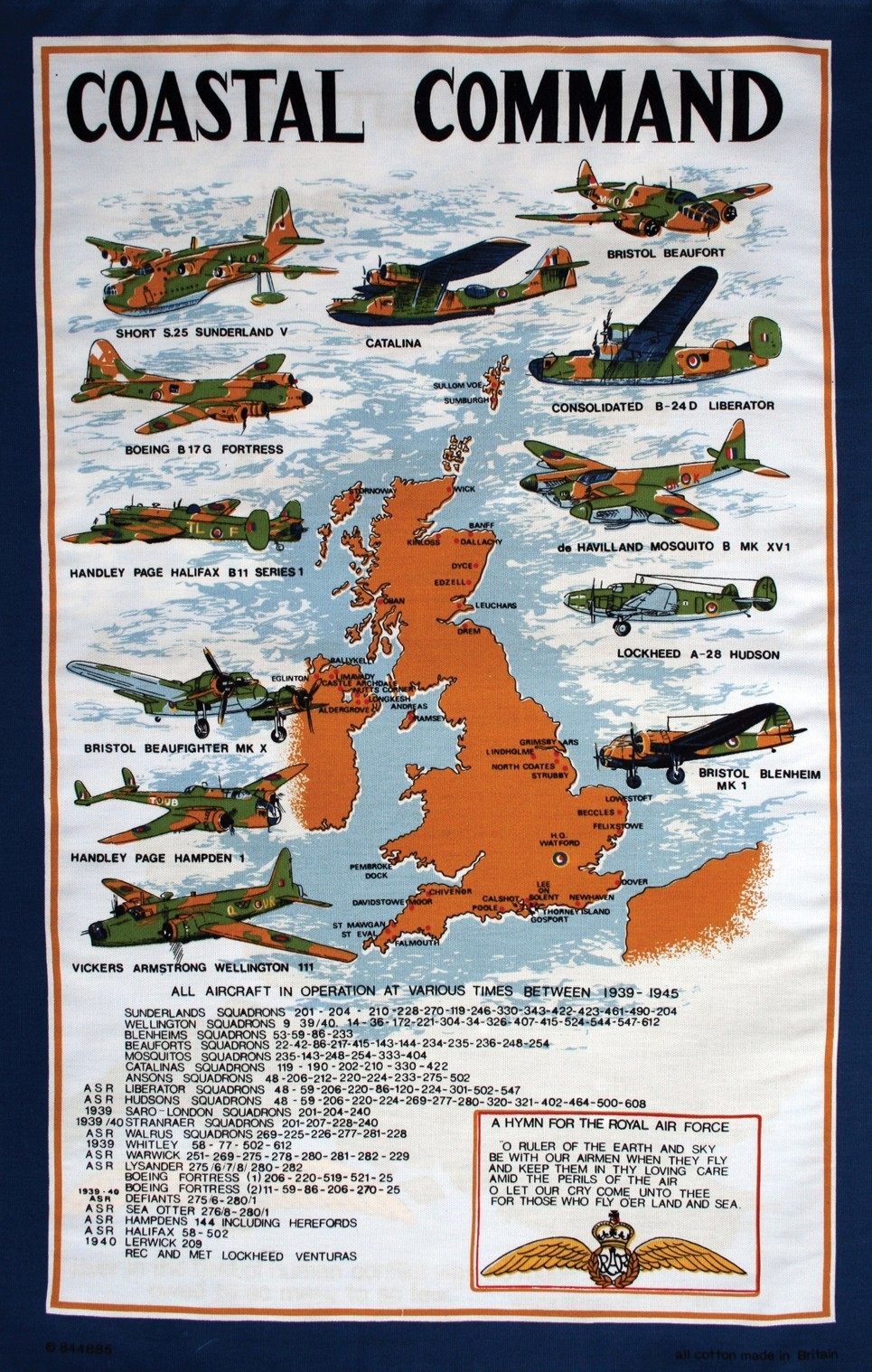 Tea towel - Coastal Command