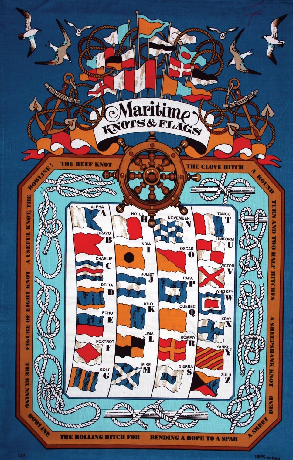 Tea towel - Maritime Knots