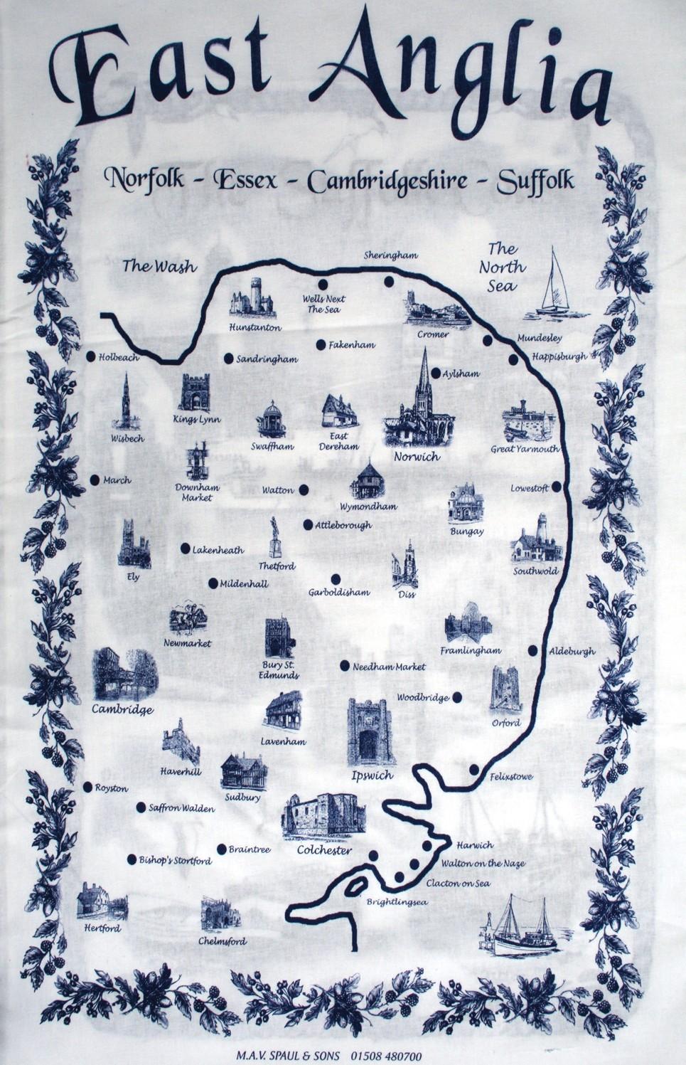 Tea towel - East Anglia