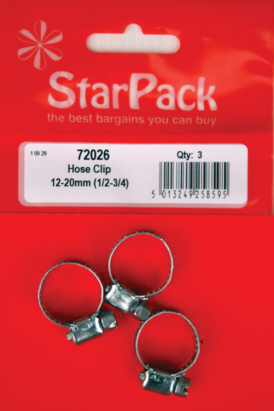Packet of three 18-25mm hose clips