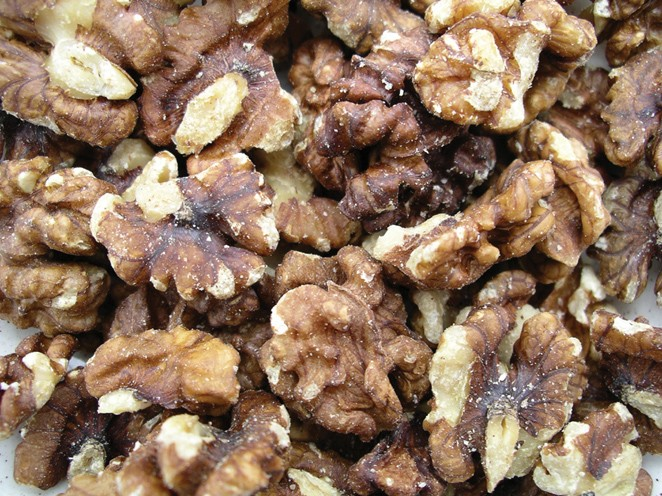 Golden Sunrise Foods.  Walnuts.  Produce of India.  May contain other nut traces.