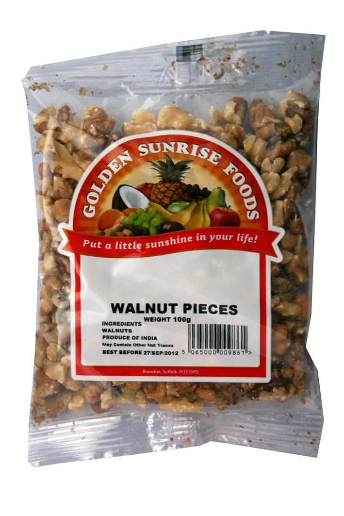 Golden Sunrise Foods.  Walnuts.
