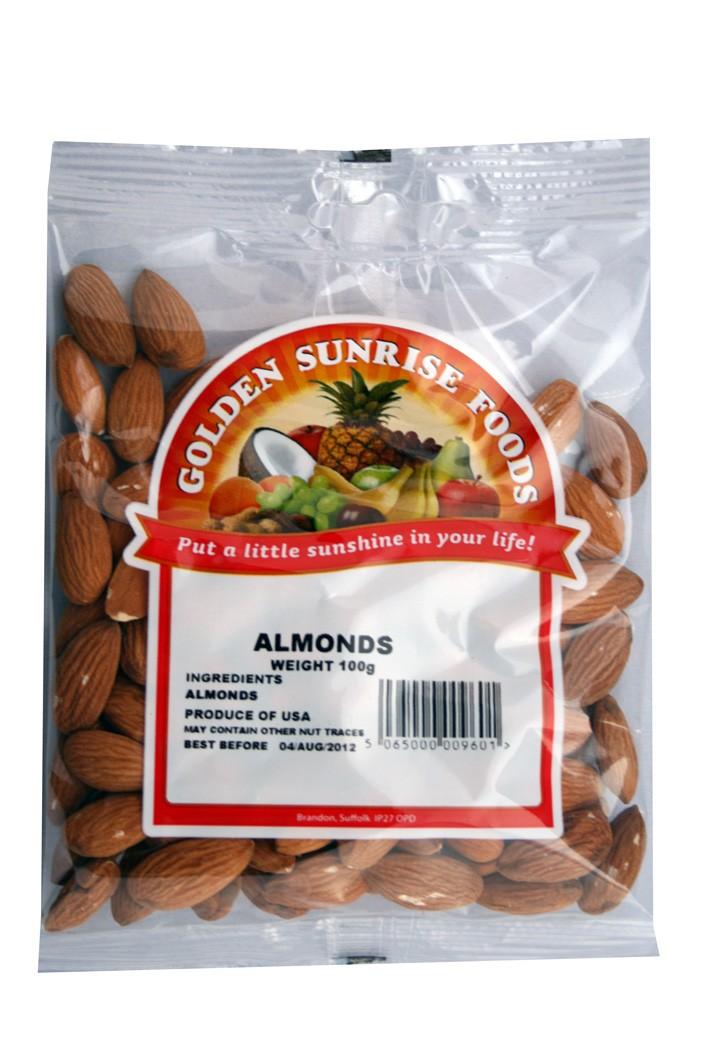 Golden Sunrise Foods.  Whole almonds