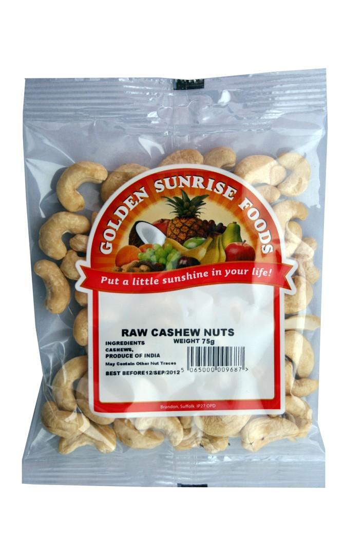 Golden Sunrise Foods.  Whole cashew nuts.