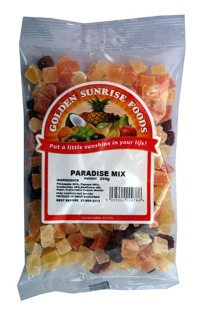 Golden Sunrise Foods.  Paradise mix.