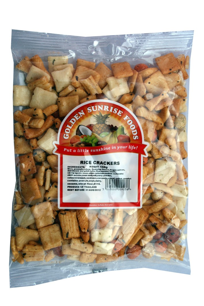 Golden Sunrise Foods.  Rice crackers