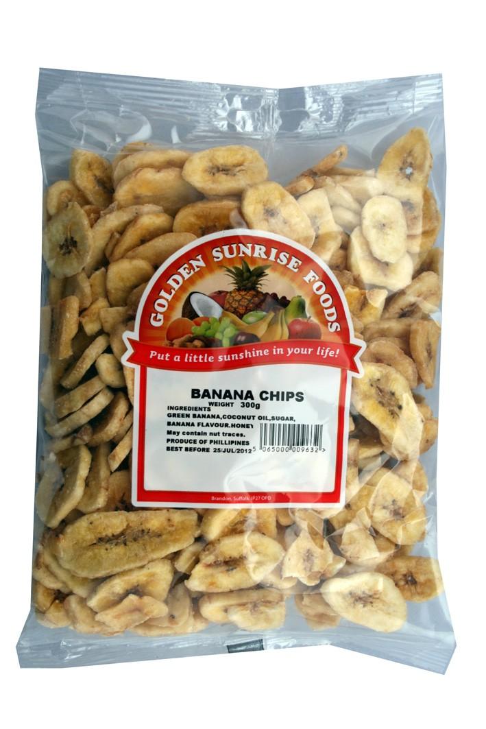 Golden Sunrise Foods.  Banana chips