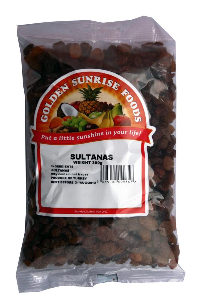 Golden Sunrise Foods.  Sultanas.