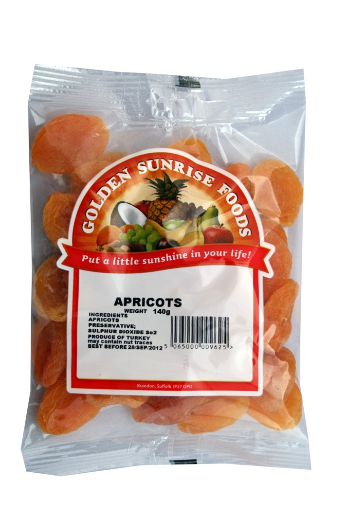 Golden Sunrise Foods.  Dried apricots