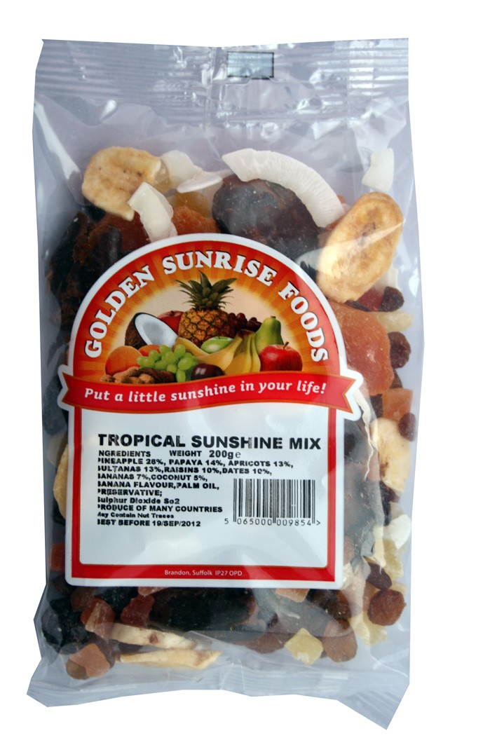 Golden Sunrise Foods.  Tropical sunshine mix.