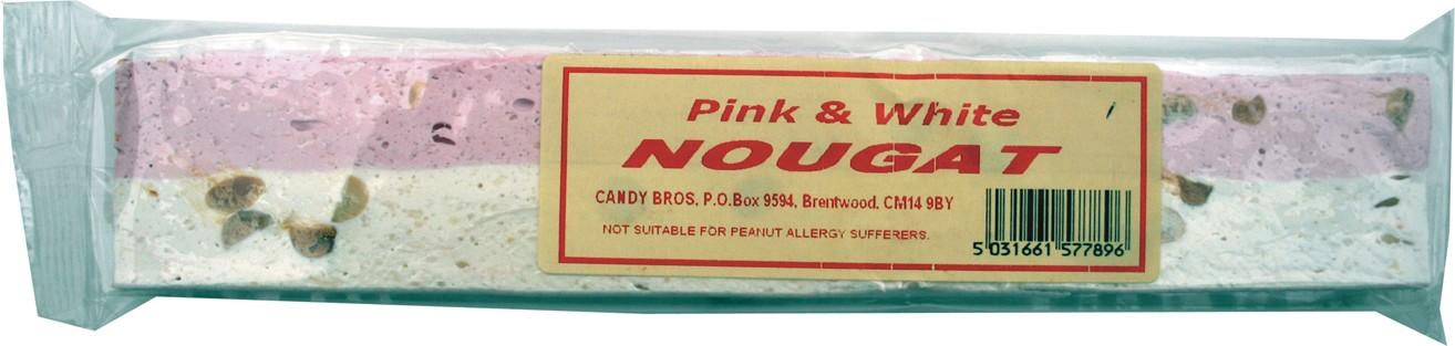 Pink and white nougat bars