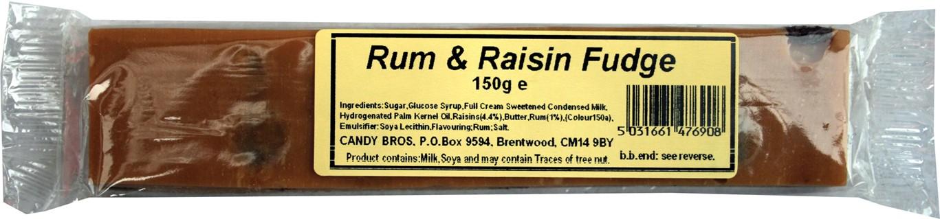 Rum and Raisin fudge
