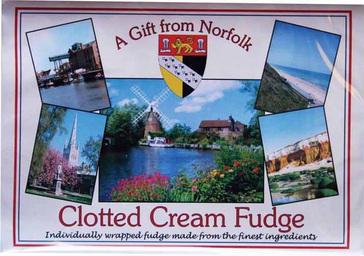Clotted cream fudge. A gift from Norfolk