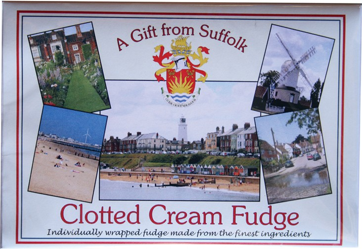 Clotted cream fudge. A gift from Suffolk