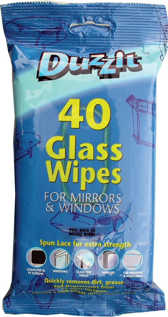 Pack of 40 Glass wipes