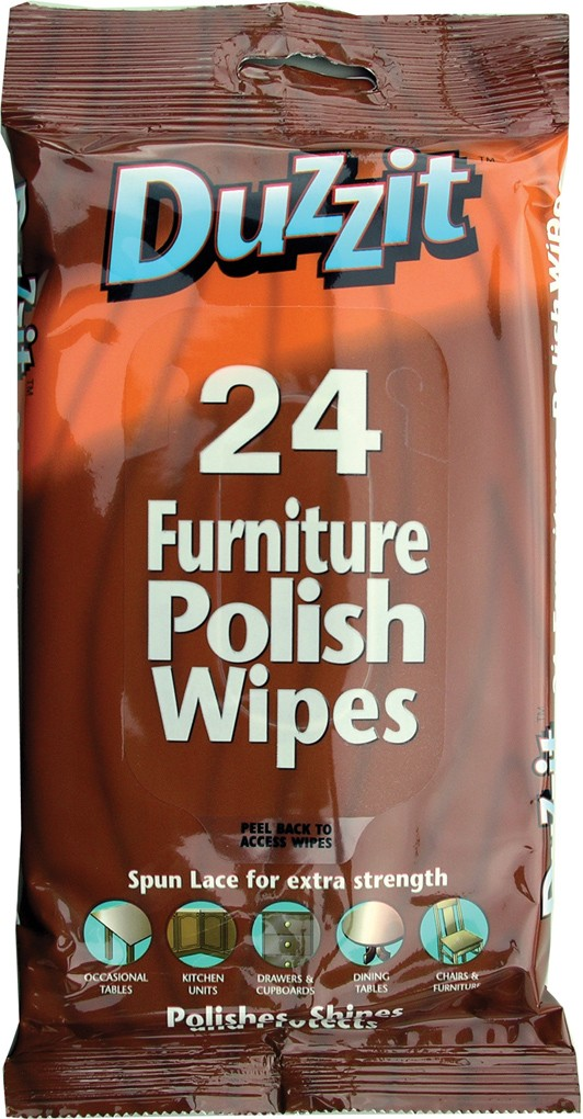 Furniture polish wipes - Pack of 24