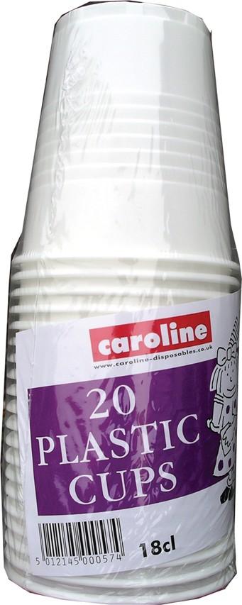20 plastic cups