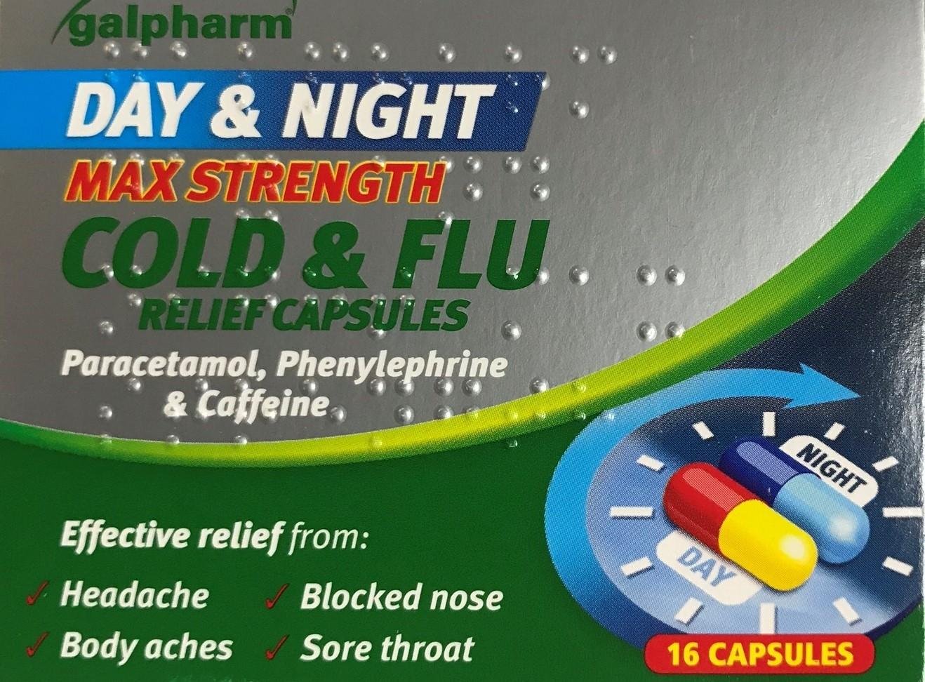 Galpharm Day & Night Cold & Flu Caps
