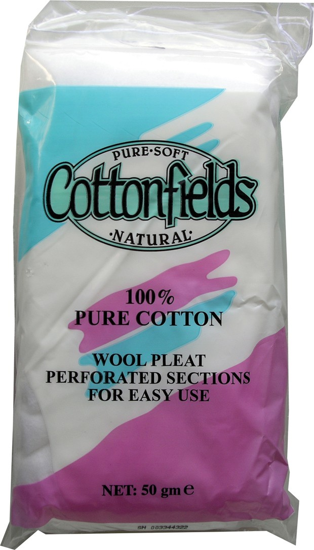 Cotton wool pleat