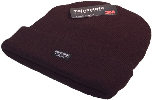 Thinsulate knitted ski hat in grey, black or navy