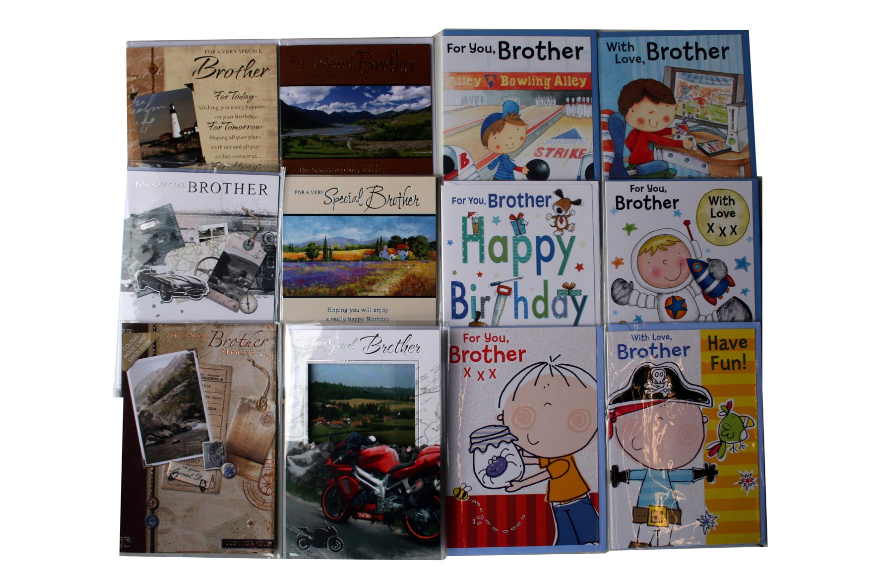 """Brother"" birthday cards, every card is different,order as many as you need."