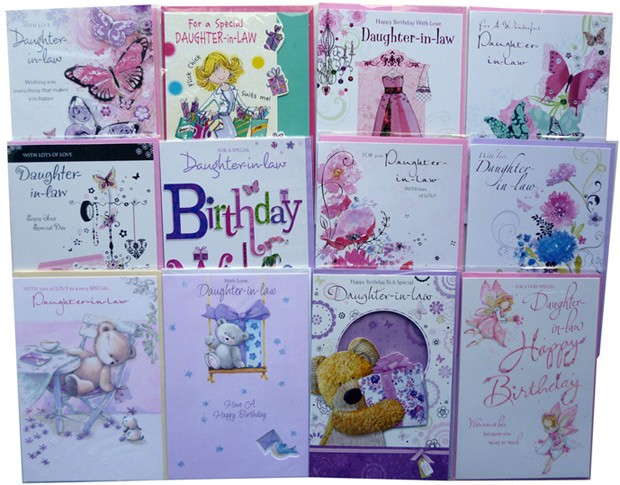 """Daughter-In-Law"" birthday cards"