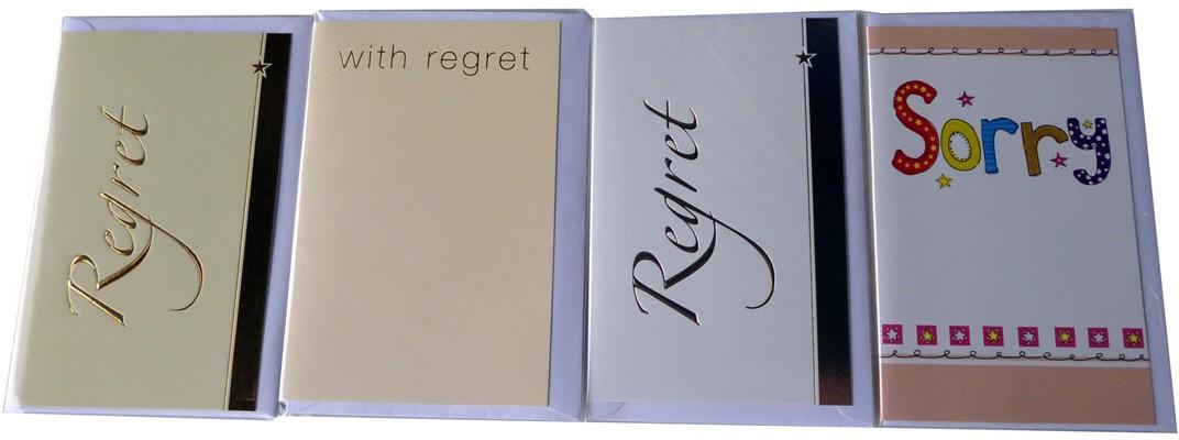 """""""regret"""" cards"""