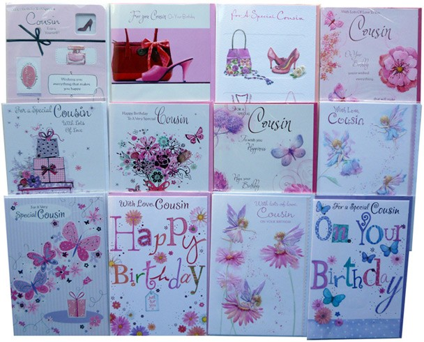Female cousin birthday card