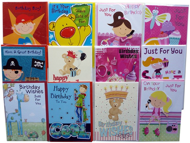 Assorted boys birthday cards