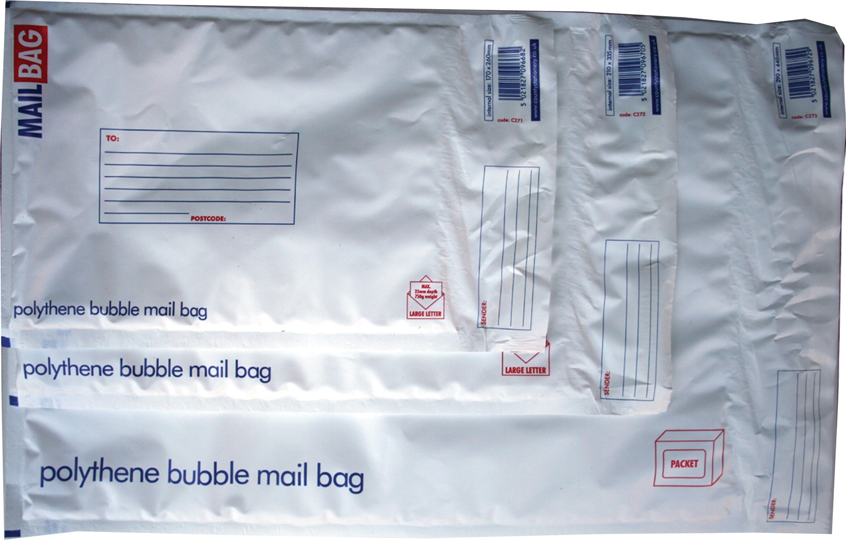 Bubble mail bag, large