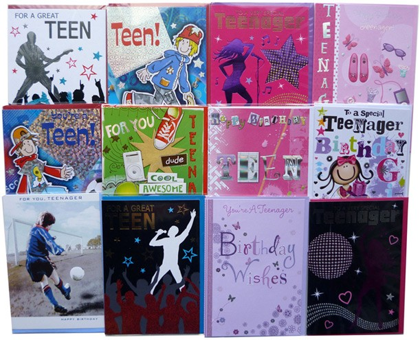 Male teenage birthday cards