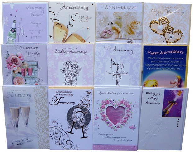 """Your Wedding Anniversary"" cards"