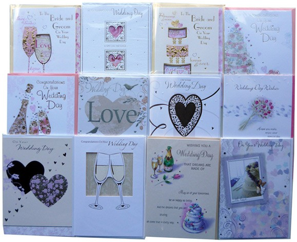 "Assorted ""Wedding Day"" cards"