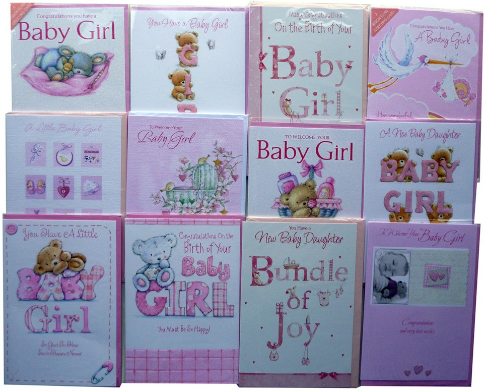 12 Baby Girl cards